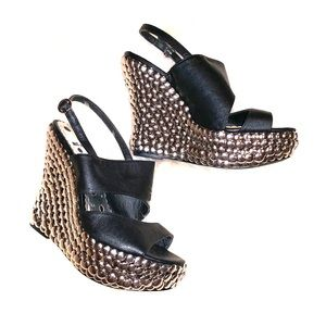 Shoes - NEW! Black wedges size 7.5!